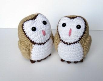 Barn Owl Amigurumi Crochet Plush Toy