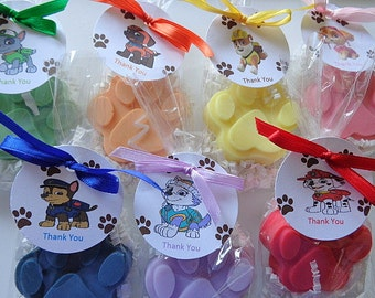 20 Paw Patrol Party Soap Favors, Paws, Birthdays, Children, Special Occasions