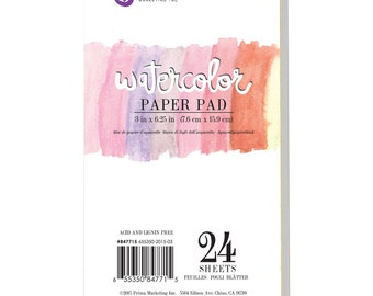 "Prima Watercolor Paper Pad 3"" x 6.25"""