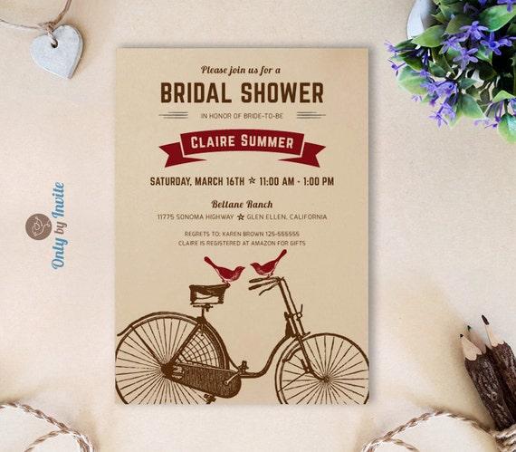 Cheap Printed Wedding Invitations: Kraft Bridal Shower Invitation Printed Rustic By OnlybyInvite