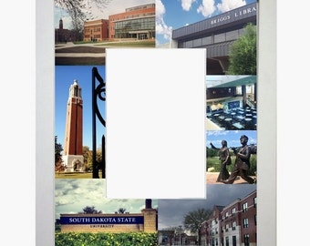 South Dakota State University Picture Frame Photo Mat Unique Gift School Graduation Personalized