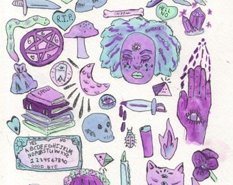 Gay Witches Art Stickers