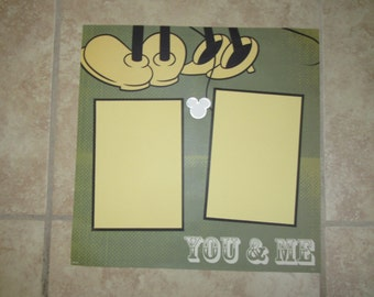 """Mickey & Minnie """"YOU and ME"""" Premade Scrapbook Page"""