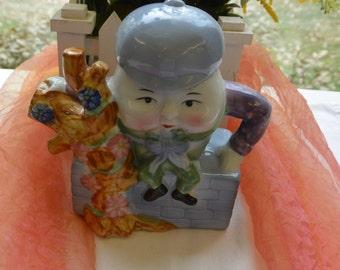 Humpty Dumpty Teapot - Decor, Tea, Feitsc China - Vintage - Rare, Fabulous!