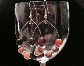 Jasper hoop earrings