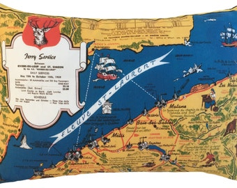 Metis Vintage Map Pillow - FREE SHIPPING