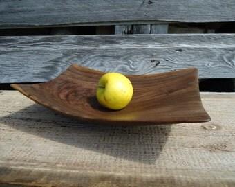 Black walnut wood tray - Office gifts - Figured black walnut wood - Wood jewelry dish - Gifts for her - Food safe wood tray, Small wood tray