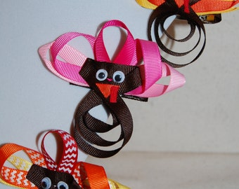 Thanksgiving Turkey Bow