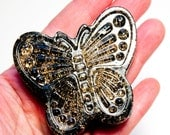 Orgone Black Tourmaline Healing Butterfly POWERFUL EMF Protection, Place your Glass on top to Clear Water