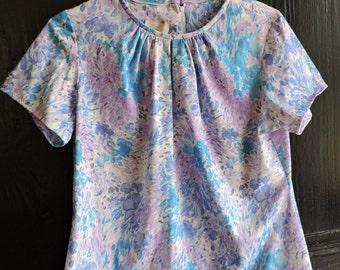Vintage Spring Floral Blouse