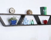Floating Shelf - Modern Shelf - Geometric Shelf - Wall Shelf - Book Shelf - Mid Century Shelf - Minimalist Shelf - Wood Shelf - Trapezoid