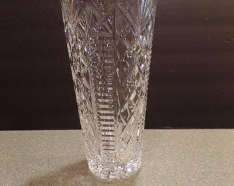 "Waterford Crystal ""Claire"" 8"" vase ~ Excellent REDUCED"