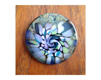 modern art pin / glass 80s jewelry / art jewelry / colorful brooch