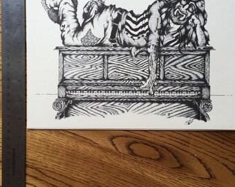 The Piano Man print 11x8.5 by Jim Perleberg