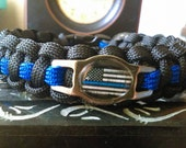 Thin Blue Line-Police Paracord Bracelet - FREE SHIPPING