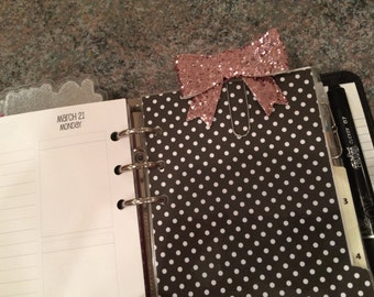 Pink Glitter Bow clip for your planner!