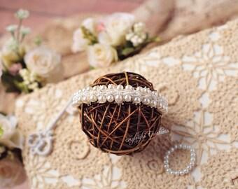 Pearl headband and matching bracelet