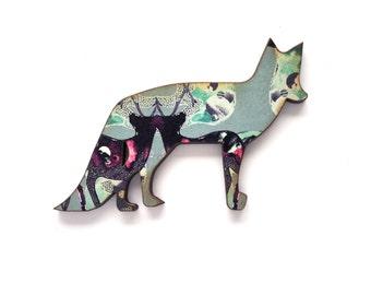Fox Lapel Pin - Fox  Brooch - Fox Jewellery - Fox Pin - Animal Brooch - Nature Pin - Fox Badge - Gift For Fox Lover - Cute Pin - Pin Flair