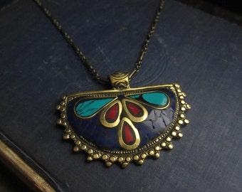 Raw Stone Jewelry,Tibetan Jewelry,Nepal Necklace,Nepal Jewelry,Turquoise Necklace,Turquoise Jewelry,Tibetan necklace,Tibet pendant