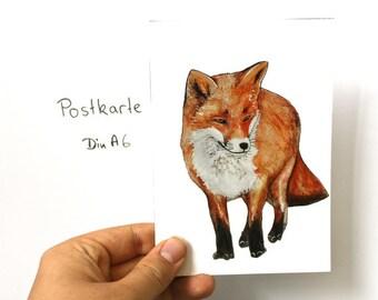 "Postcard ""Fox"""