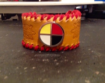 Medicine Wheel Cuff Bracelet