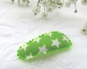 Green star mini snap clip