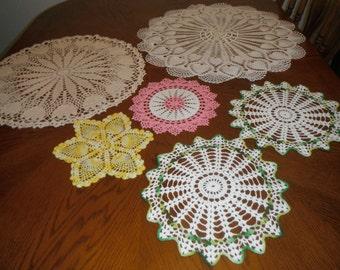 Beautiful hand crochted doillies.