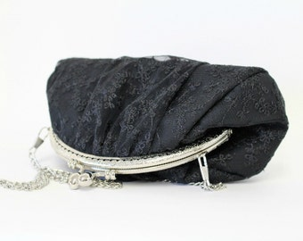Evening bag | black lace