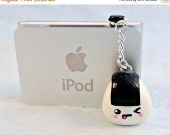 ON SALE Kawaii Winking Onigiri Dust Plug, For iPhone or iPod, Cute :D