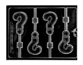 Question Mark Chocolate Sucker Lollipop Molds  - Letters and Numbers - Candy Making Party Supplies