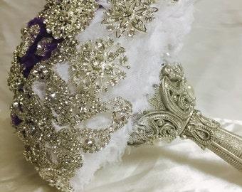 SALE. BROOCH BOUQUET- Wedding Brooch Bouquet, Jeweled Bouquet, brooch Bouquet, ready to ship. Sale
