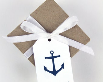Place Card Tags - Anchor Design