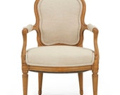 French Louis XVI Beechwood Antique Arm Chair Fauteuil, Period, Late 18th Century, 505FTA20P