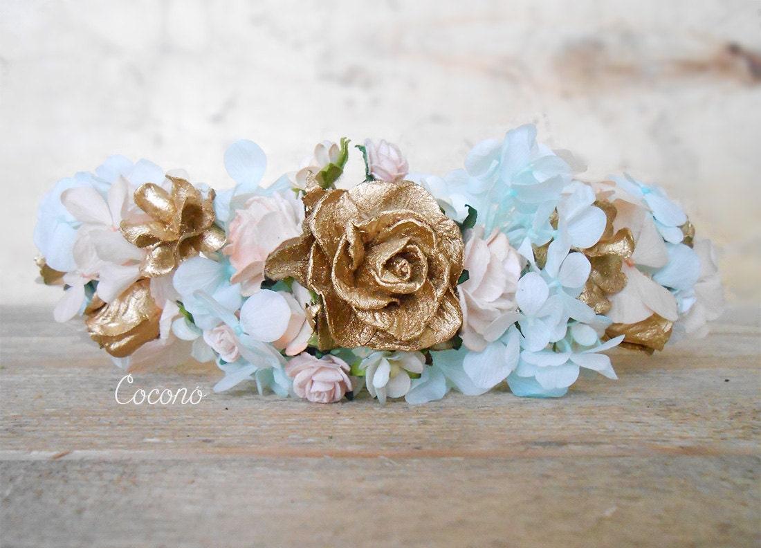 Bridal Flower Wreath For Hair : Flowers hair wreath bridal flower crown headband