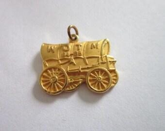 Vintage WTOM 1985 Gold Tone Charm Bracelet Charm