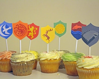 Game of Thrones GOT Cupcake toppers cake decorations