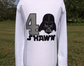 DARTH VADER BIRTHDAY-Personalized Embroidered Bodysuit or T-Shirt