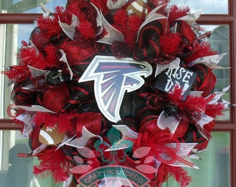 Atlanta Falcons Fan Deco Mesh Door Wreath