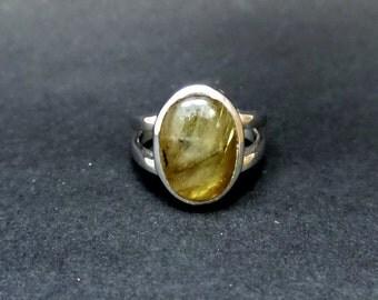 Labradorite Ring/  Natural Labradorite 5.31 ct Sterling Silver Ring/ Sterling Silver Natural Labradorite Ring