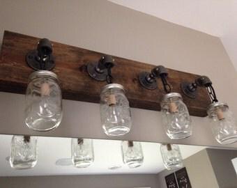 Industrial steampunk vanity fixture