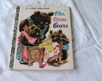 The Three Bears Vintage A Little Golden Book Child Children's