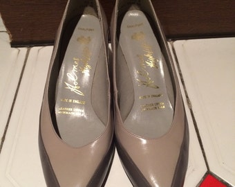Vintage Two Tone Grey 60s Shoes