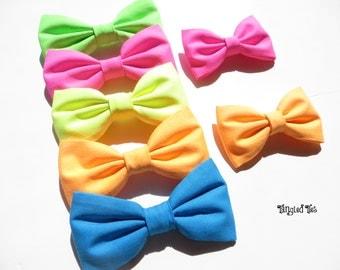 NEON Bow Ties, Neon Wedding Bow Ties, Neon Orange, Neon Green, Neon Yellow, Neon Pink, Neon Blue Bow Ties