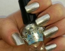 Brilliant Hilites by Polish Me, Royalty! 5-toxin free, cruelty free, handmade metallic silver, chrome-like, nail polish