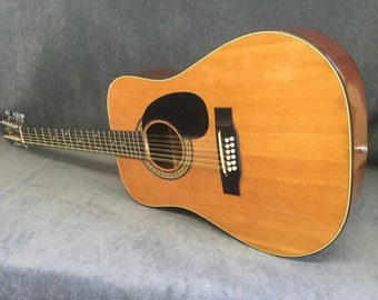 Vintage 1977 Alvarez Made in Japan 12 String Guitar - Model 5021 - Awesome 12 String for The Money