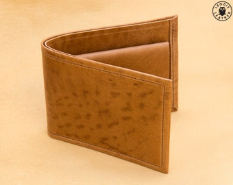 Gents Horsehide Leather Coin Wallet (Natural)