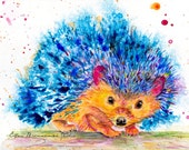 Hedgehog Spirit Power animal original painting by Ellen Brenneman