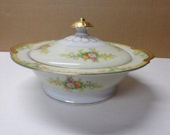 Empress China Vegetable Bowl Japan 1930's Vintage Covered Vegetable Bowl