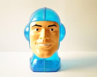 Vintage  Boomer Bubblegum Display Case - Blue Spaceman Head