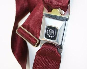 Burgundy Cadillac Buckle-Up Belt